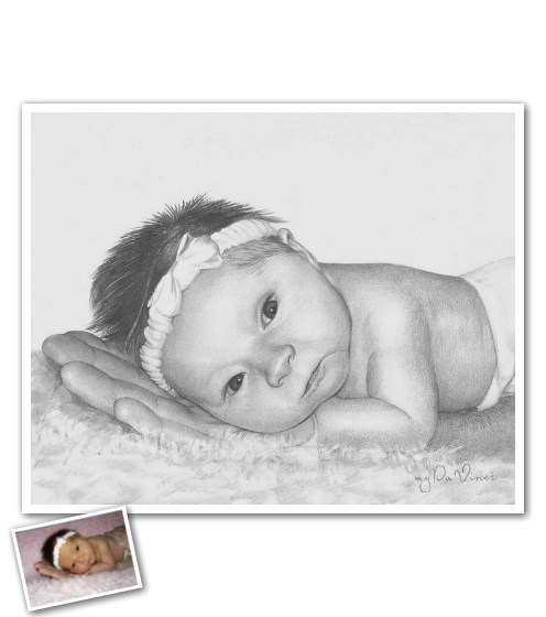 Our professional artists have over ten years of experience creating authentic, 100% hand-drawn pencil sketches from photos. These one of a kind sketches are created on premium grade, heavy weight sketch paper with attention to the finest details. Let us make your treasured memory shine on the wall and stay with you forever!