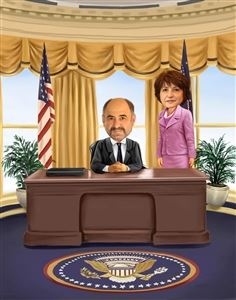 President and First Lady Caricature from Photos