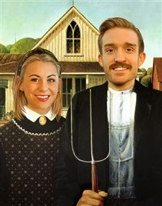 Personalized American Gothic Masterpiece from Photos