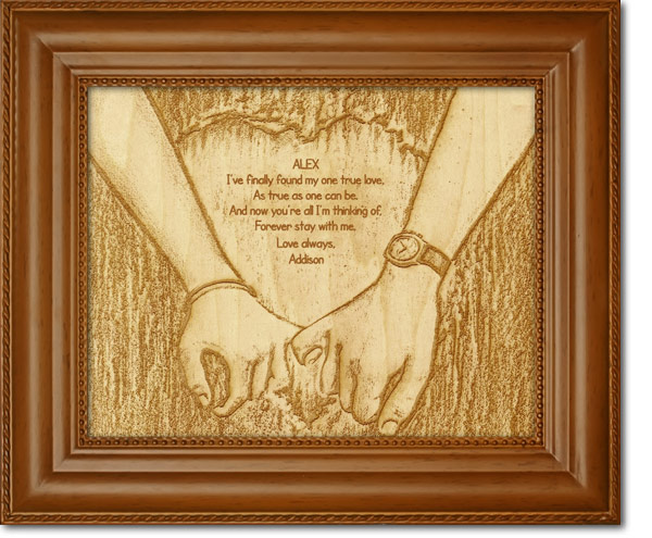 Image Wood Engraved True Love