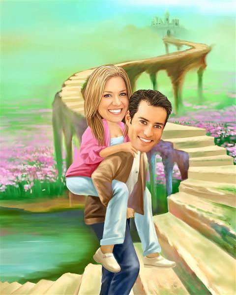 Fairytale Romance Caricature from Photos