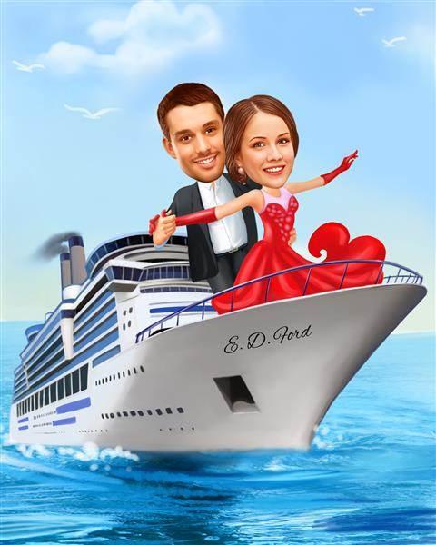 Titanic Love II Caricature from Photos