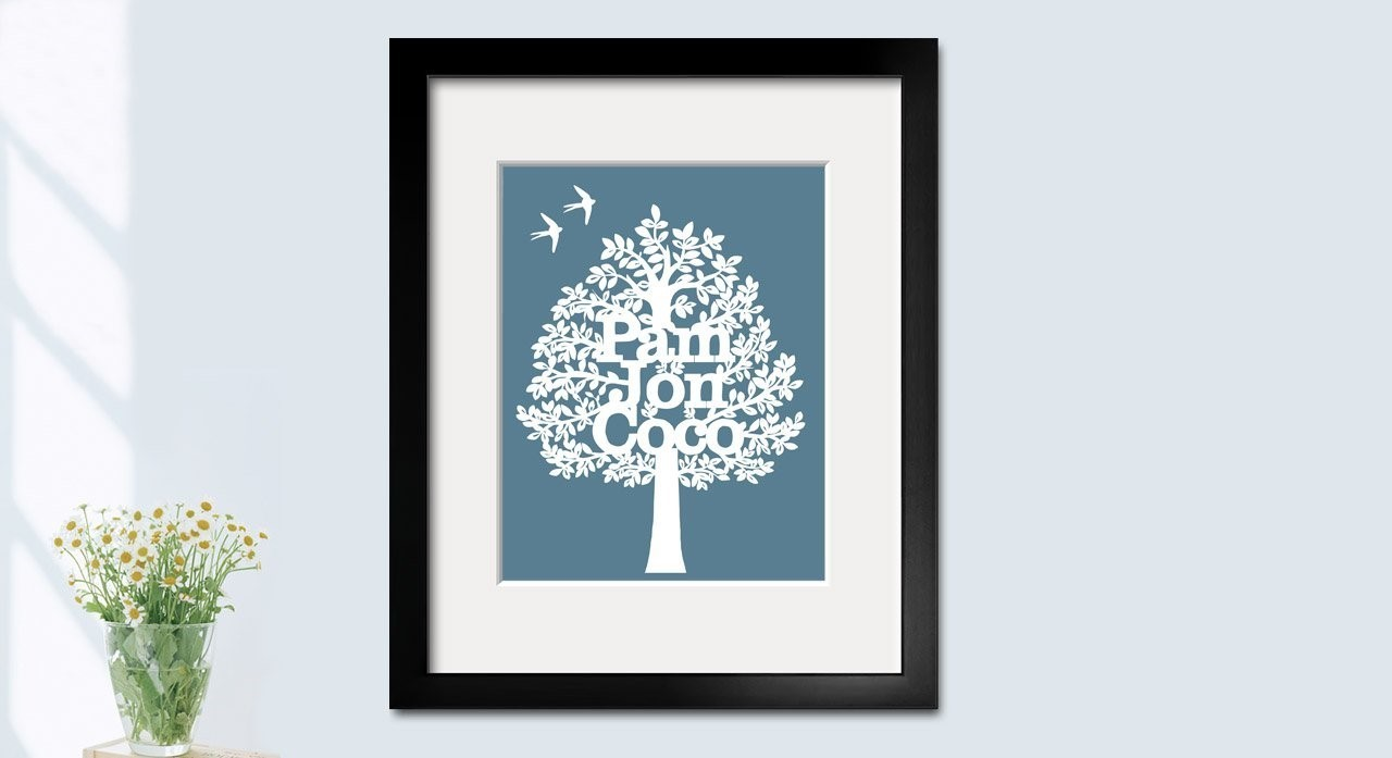 paper cut family tree template