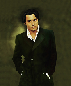 Johnny Depp Oil Painting Giclee