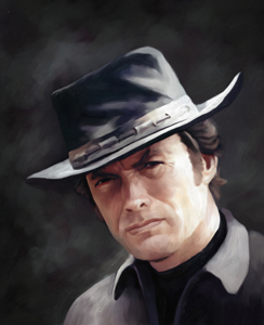 Clint Eastwood Oil Painting Giclee