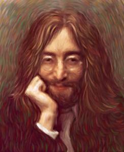 John Lennon Oil Painting Giclee