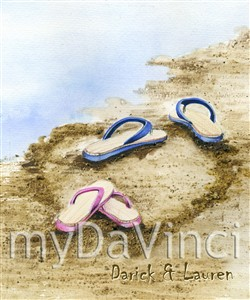 Sand between Our Toes Personalized Art Print with Text