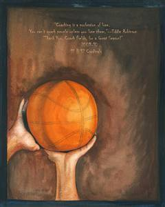 Personalized Basketball Diaries Watercolor Print
