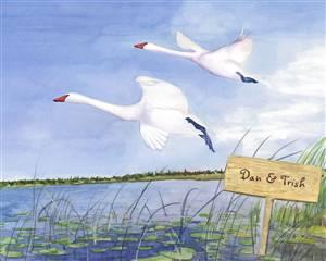 Swan Lake Watercolor