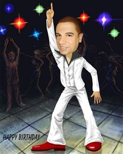 Saturday Night Fever Caricature from Photos