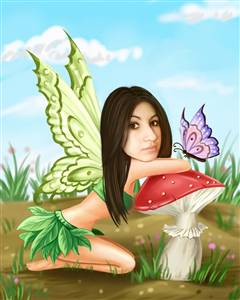 Butterfly Fairy Caricature from Photo