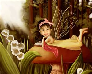 Girl Caricature - Woodland Fairy Princess Caricature from Photo