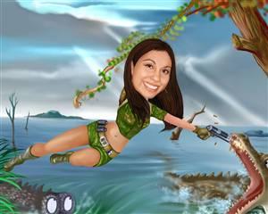 Jungle Commando Caricature from Photo