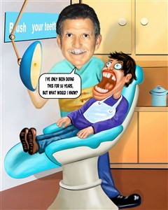Dentist Caricature from Photo