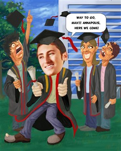 Graduation Caricature from Photo