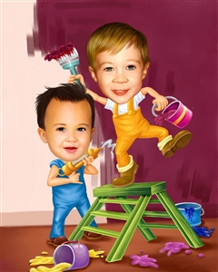 Little Painters Caricature from Photos