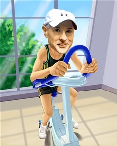 Exercise Guy Caricature from Photo