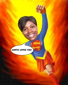 Superwoman Caricature from Photo