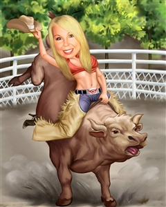 Cowgirl Caricature from Photo