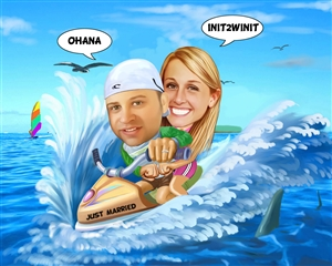 Jet Ski Caricature from Photos