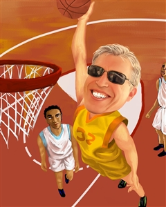 Basketball Player Caricature from Photo