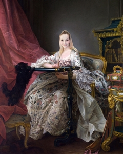 Personalized Madame Pompadour Masterpiece from Photo