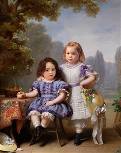 Little Sisters in Park - Personalized Masterpiece from Photos