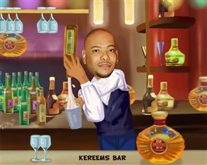 Bartender Caricature from Photos