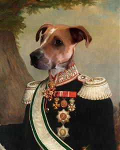 Custom Royal Portrait and Masterpiece Prince Emil from Photo