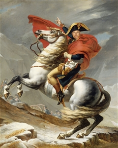 Personalized Masterpiece Napoleon Crossing the Alps from Photo