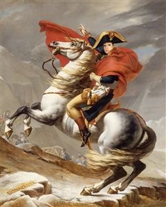 Personalized Napoleon Crossing the Alps Masterpiece from Photo