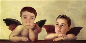Personalized Sistine Madonna (Two Angels) Masterpiece from Photos