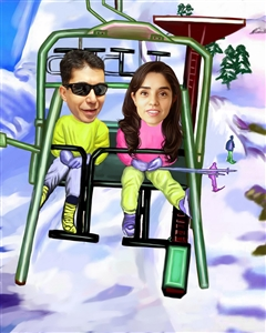 Ski Lift Caricature from Photos
