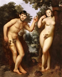 Personalized Adam and Eve Masterpiece from Photos