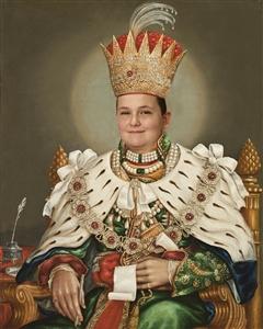 Custom Royal Portrait King Nasir from Photo