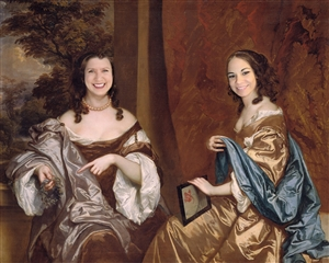 Personalized Masterpiece Royal Portrait of Two Sisters from Photos