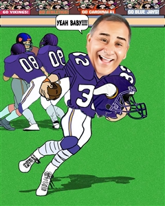 Football Player II Caricature from Photo