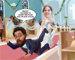 Wedding Caricature from Photos