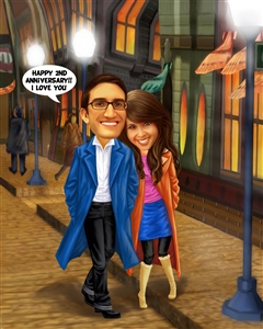 Date Love Caricature from Photos