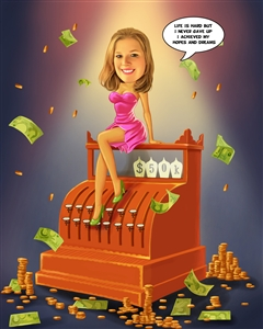 Rich Girl Caricature from Photo