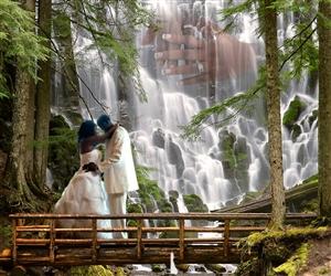 Waterfall Romance Fantasy from Photos