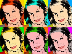 Pop Art 6 Panels from Photos