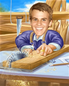 Carpenter Caricature from Photo