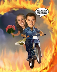 Ring of Fire Caricature from Photos