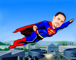 Superman Caricature from Photo