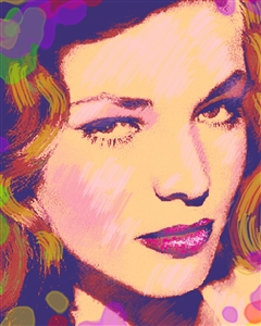 Lauren Bacall Pop Art Print
