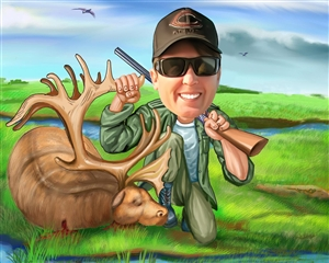 Hunter Caricature from Photo