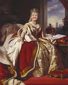 Custom Royal Portrait Queen Victoria from Photo