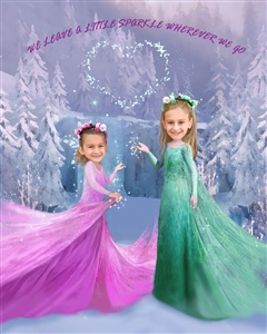 Frozen Princesses Caricature from Photos