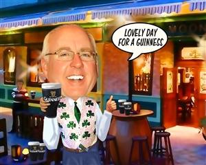 Irish Pub Guy Caricature from Photo
